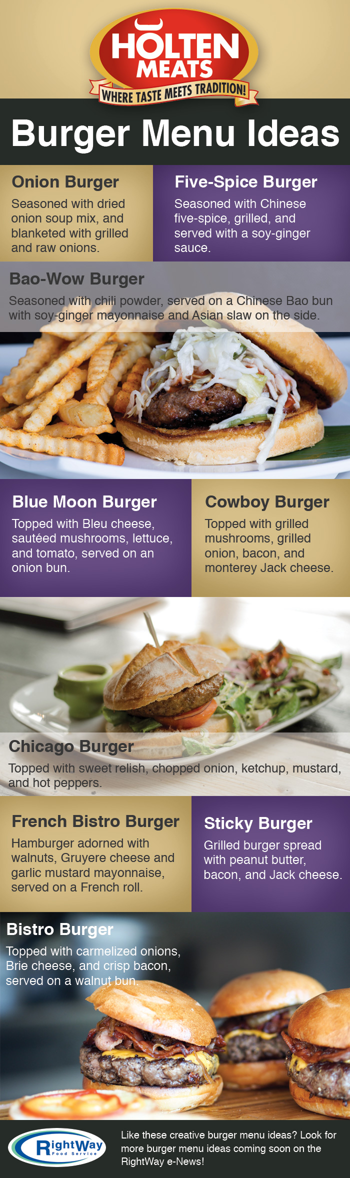 5-17 Creative Burger Menu Ideas