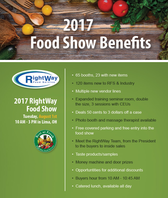 7-17 benefits of the food show