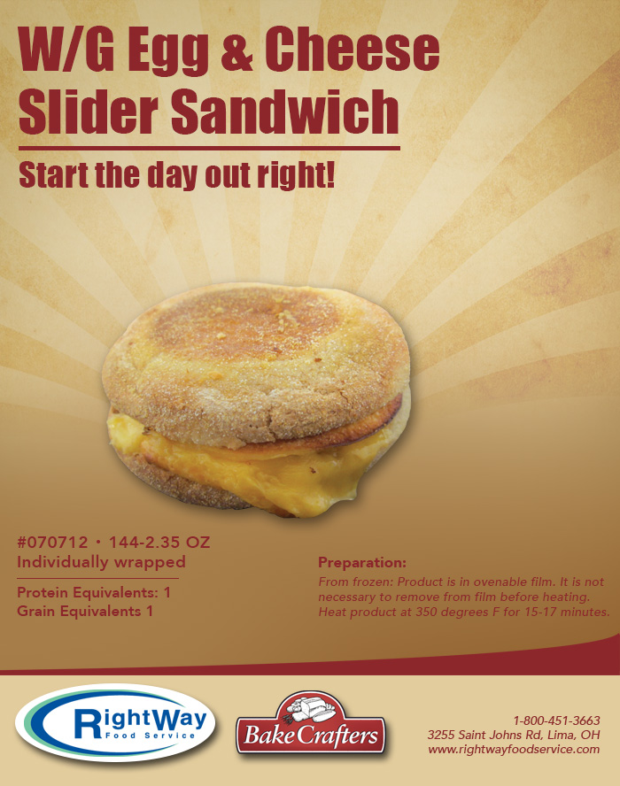 4-15 egg and cheese slider