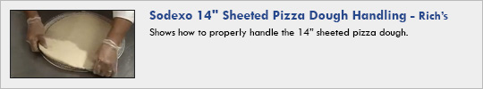 "rich's - Sodexo 14"" Sheeted Pizza Dough Handling"