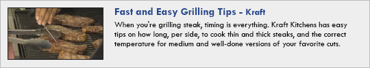 kraft - Fast and Easy Grilling Tips