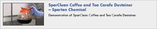 Spartan Chemical - SparClean Coffee and Tea Carafe Destainer