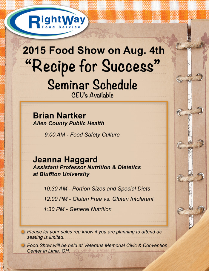 RightWay Food Show Seminar Schedule