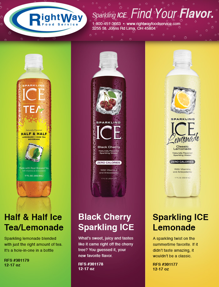 9-16 Sparkling Ice Flavors